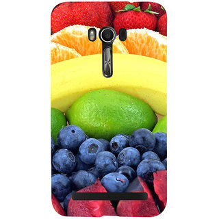 Snapdilla Colorful Mixed Fruit Strawberry Orange Slice Banana Blueberry Weight Loss Mobile Pouch For Asus Zenfone Go ZC500TG