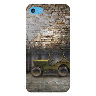 Snapdilla Brick Background Vintage Commando Classic Green Military Jeep 3D Print Cover For Apple IPod Touch 6