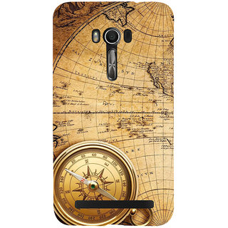 Snapdilla Vintage Ancient Old Golden Compass Globe Map British Mobile Pouch For Asus Zenfone Go ZC500TG