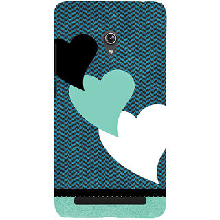 Snapdilla Simple Pattern Blue Background Lovely Hearts Classic Best Mobile Cover For Asus Zenfone 6 A600CG