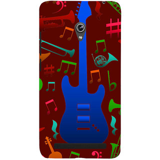 Snapdilla Brown Background Rock Star Acoustic Guitar Musical Chord Notes Smartphone Case For Asus Zenfone 6 A600CG