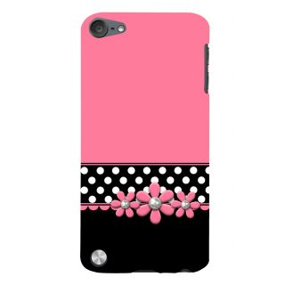 Snapdilla Pink Background White Dots Pattern Flower Beads Rakhi Gift Back Cover For Apple IPod Touch 5
