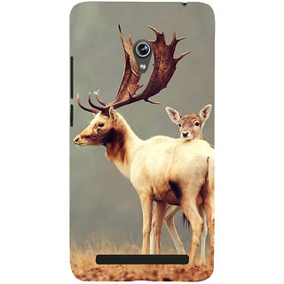 Snapdilla Grey Color Background Stunning Baby Deer Wild Life Hd Photo Smartphone Case For Asus Zenfone 6 A600CG