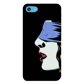 Snapdilla Black Background Classic Modern Art Blind Folded Sexy Hot Girl Creative Mobile Case For Apple IPod Touch 6