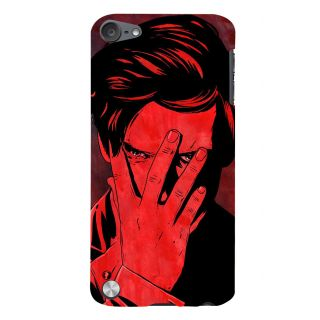 Snapdilla Unique Artistic Gentleman Attitude Man Covering Face Red Texture Phone Case For Apple IPod Touch 5