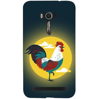 Snapdilla Sunrise Village Style Colorful Chicken Cock Modern Art Mobile Case For Asus Zenfone Go ZC500TG