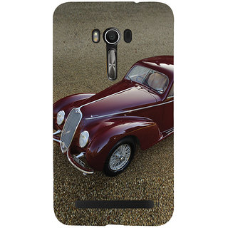 Snapdilla Stylish Red Color Vintage Car Incredible Classic Car Mobile Pouch For Asus Zenfone Go ZC500TG