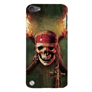 Snapdilla Pirates Of The Caribbean Jack Sparrow Scary Skelton Hollywood Back Cover For Apple IPod Touch 5