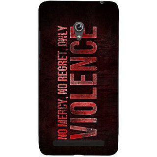 Snapdilla No Mercy No Regret Only Violence Fight Club Quote Action Movie Mobile Case For Asus Zenfone 6 A600CG