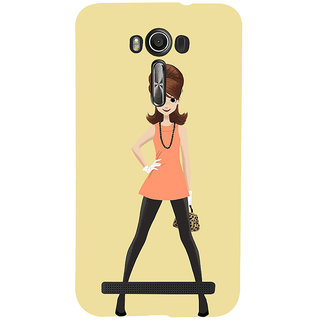 Snapdilla Light Background Animated Stylish Modern Cartoon Lady Smartphone Case For Asus Zenfone 2 Laser ZE601KL