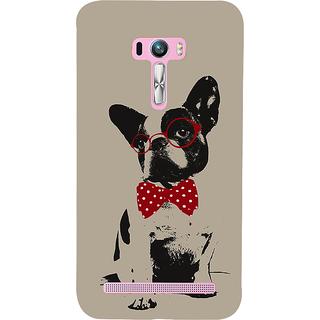 Snapdilla Crazy Cute Looking Unique Light Background Dog Sketch 3D Print Cover For Asus Zenfone Selfie ZD551KL