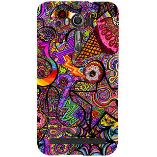Snapdilla Animated Colorful Different Looking Simple Cute Graffiti Mobile Case For Asus Zenfone 2 Laser ZE601KL