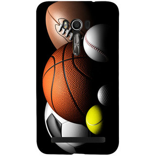 Snapdilla Multi Color Football Basketball Volleyball Rugby Tennis Golf Sports Ball Mobile Cover For Asus Zenfone Go ZC500TG
