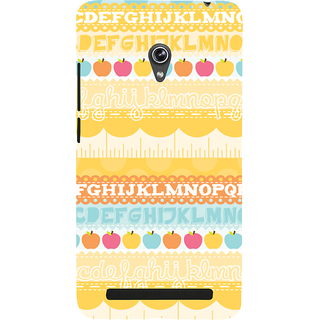 Snapdilla Yellow Background Amazing English Alphabet Letters Childish Good Mobile Pouch For Asus Zenfone 6 A600CG