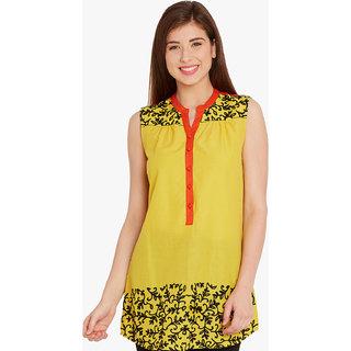 Yellow  Printed Tunic