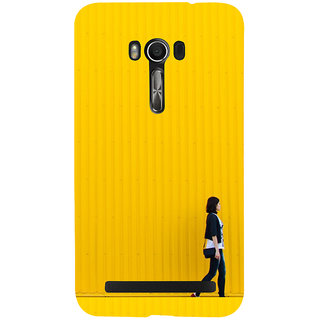 Snapdilla Yellow Color Cool Simple Looking Lonely Dudgeon Girl Walk Back Cover For Asus Zenfone Go ZC500TG
