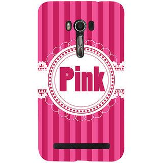 Snapdilla Lovely Pink Background Stripes Pattern Cute Designer Case For Asus Zenfone Go ZC500TG