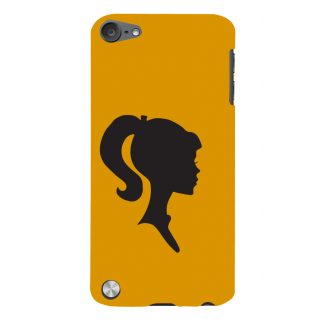 Snapdilla Gorgeous Pretty Girl Stylish Pony Tail Yellow Color Background 3D Print Cover For Apple IPod Touch 5