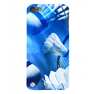 Snapdilla Blue Background Shuttle Badminton Games Lovers Mobile Pouch For Apple IPod Touch 5
