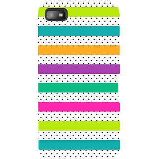 Snapdilla Simple Stylish Trendy Colorful Stripes Pattern Best Cell Cover For BlackBerry Z10