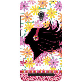 Snapdilla Artistic Colorful Flowers Pattern Dj Party Music Headphones Mobile Case For Asus Zenfone 5