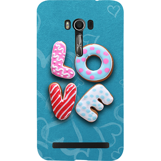 Snapdilla Blue Background Chocolate Donut Cartoon Love Quote Unique Back Cover For Asus Zenfone Go ZC500TG