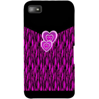 Snapdilla Black Background Pretty Pink Little Face Hearts Lovely Smartphone Case For BlackBerry Z10