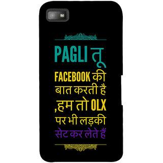 Snapdilla Jhakas Haryana Facebook Ladki Bollywood Hindi Quote Phone Case For BlackBerry Z10