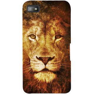 Snapdilla Wild Royal King Sher Fire Lion Background Back Cover For BlackBerry Z10