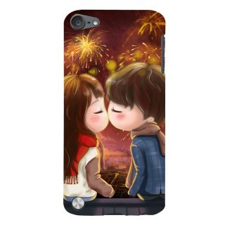 Snapdilla Colouful Cartoon Fireworks Best Girlfriend Gift First Kiss Mobile Cover For Apple IPod Touch 5