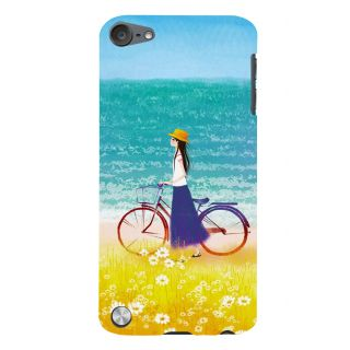 Snapdilla Happy Teen Beach Side Bicycle Ride Pretty Cartoon Girl Walk Cell Cover For Apple IPod Touch 5