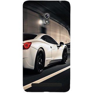 Snapdilla Lovely Fast And Furious Best White Sports Classic Racing Car Back Cover For Asus Zenfone 5