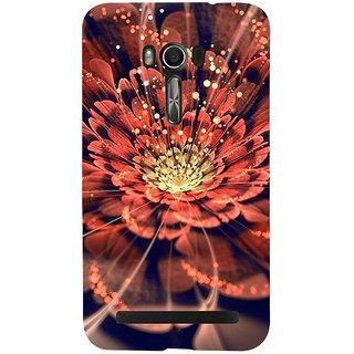 Snapdilla Artistic Unique Graphic 3D Red FloralRain Drops Simple Smartphone Case For Asus Zenfone Go ZC500TG