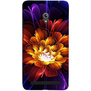Snapdilla Multi Color Artistic Clipart Graphic Flower Simple Classic 3D Print Cover For Asus Zenfone 5