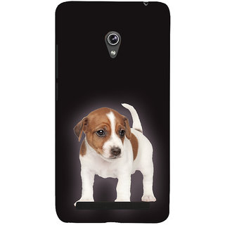 Snapdilla Brown Color Background Lovely Cute Puppy Dog Classic Pet Lovers Unique Mobile Case For Asus Zenfone 5