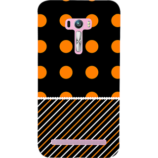 Snapdilla Black Background Simple Bubble Pattern Unique Lovely Awesome Mobile Cover For Asus Zenfone Selfie ZD551KL