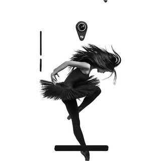 Snapdilla Unique Pretty Black Dress Stylish Gymnast Dancing Girl Unique Mobile Cover For Asus Zenfone 6 A600CG