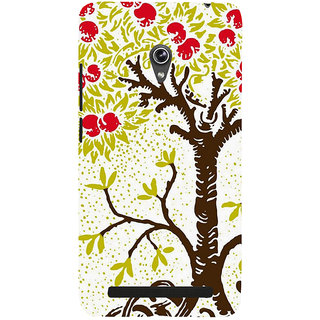 Snapdilla Artistic Unique Colors Animated Tree Abstract Painting Smartphone Case For Asus Zenfone 6 A600CG
