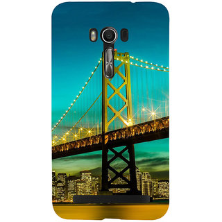 Snapdilla Sparkling San Francisco Golden Gate Bridge Night Life Engineering Architecture Phone Case For Asus Zenfone Go ZC500TG