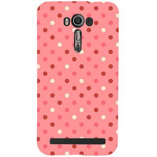 Snapdilla Artistic Modern Art Pink Background Dot Pattern Fantastic Awesome Girly Mobile Case For Asus Zenfone 2 Laser ZE601KL