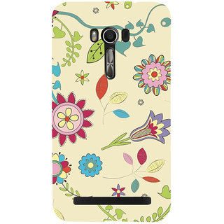 Snapdilla Multi Shaped Light Color Background Artistic Flower Pattern Back Cover For Asus Zenfone Go ZC500TG