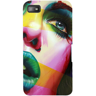 Snapdilla Colorful Modern Art Stunning Girl Face Animated Painting Mobile Cover For BlackBerry Z10