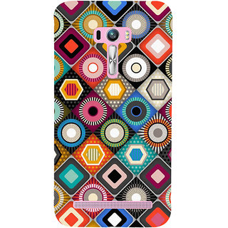 Snapdilla Different Colour Multi Shaped Simple Girly Good Looking Mobile Cover For Asus Zenfone Selfie ZD551KL