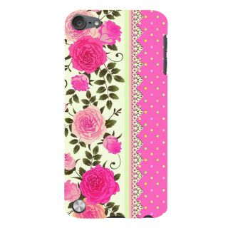 Snapdilla Simple Good Looking Cool Pink Lovely Roses Superb 3D Print Cover For Apple IPod Touch 5