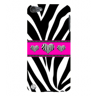 Snapdilla Different Pattern Black  White Heart Shaped Zebra Love Leather Phone Case For Apple IPod Touch 5