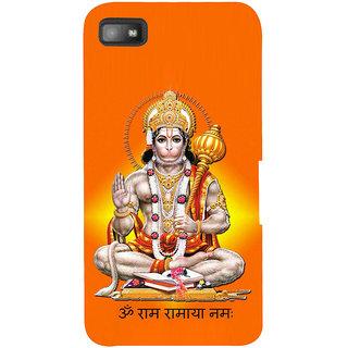 Snapdilla Lord Srirama Bajrangbali Jai Hanuman Sri Anjaneya Hindu Religious Mobile Cover For BlackBerry Z10