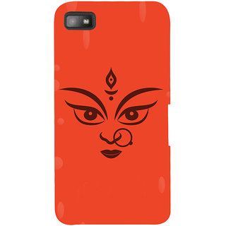Snapdilla Hindu Religious Red Color Background Lord Durga Maa Kaali Cell Cover For BlackBerry Z10