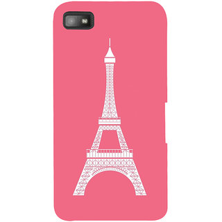 Snapdilla Clipart Pink Background Artistic Eiffel Tower Simple Good Looking Back Cover For BlackBerry Z10