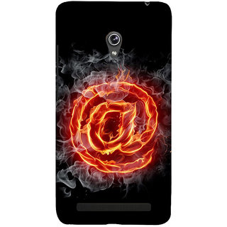 Snapdilla Artistic Animated Burning @ Sign Black Background Simple Cell Cover For Asus Zenfone 5