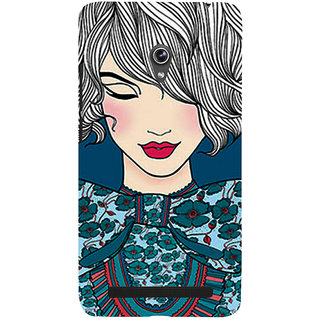 Snapdilla Good Looking Cute Pretty Girl Artistic ClipArt Back Cover For Asus Zenfone 5
